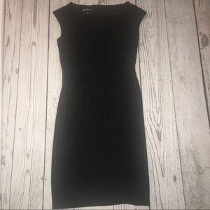 {Jones New York} Black Ruffle Dress w/ Rosettes 4
